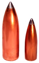 Lead tip rifle bullets